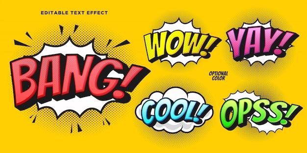 Comic bubble tekststijleffect Premium Vector