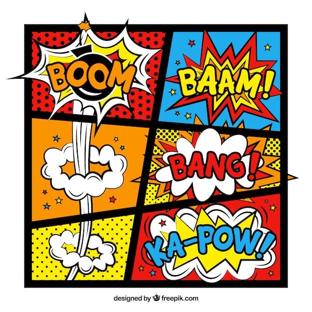 Comic sjabloon, full color Gratis Vector