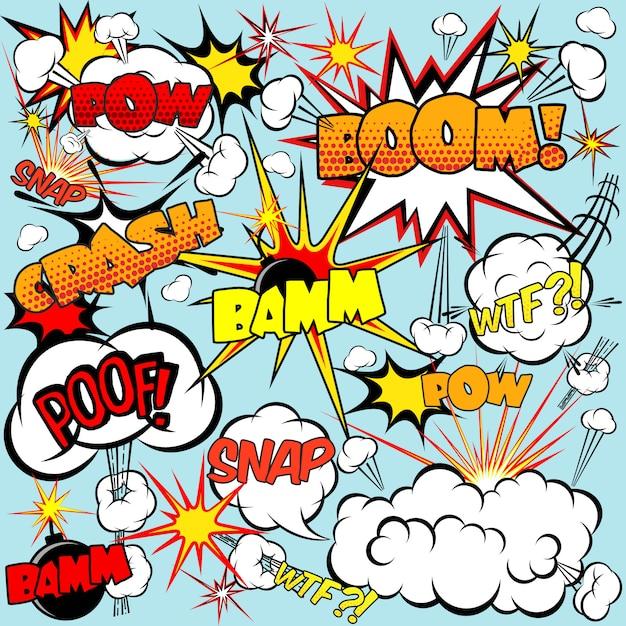 Comic speech bubbles Gratis Vector