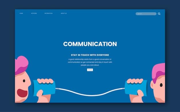 Communicatie en informatie website-afbeelding Gratis Vector