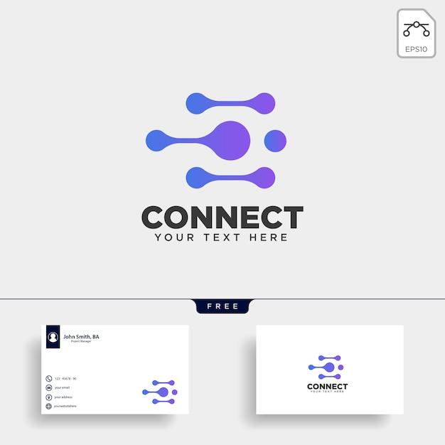 Communicatie logo sjabloon vectorillustratie Premium Vector