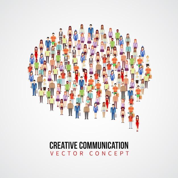 Communicatie vectorconcept Premium Vector