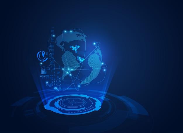 Communicatiewereld Premium Vector