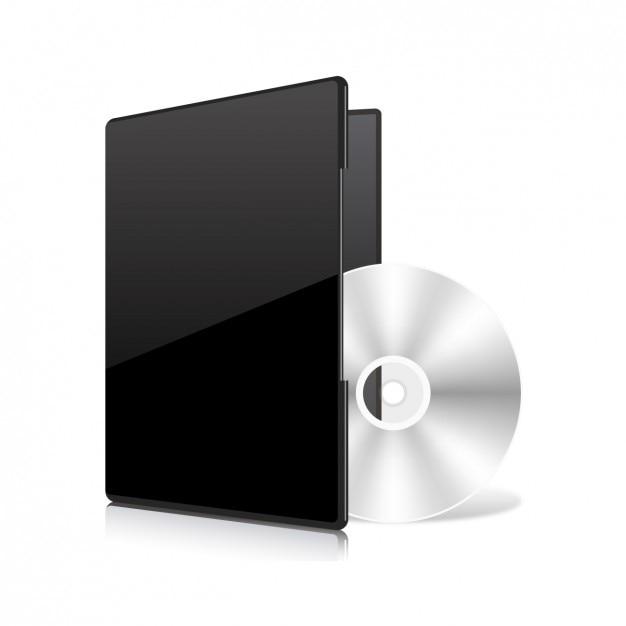 Compacr disc template Gratis Vector