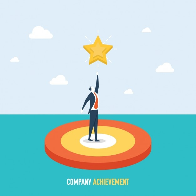 Company prestatie achtergrond Gratis Vector