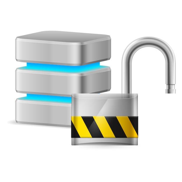 Computer veiligheidsconcept Premium Vector