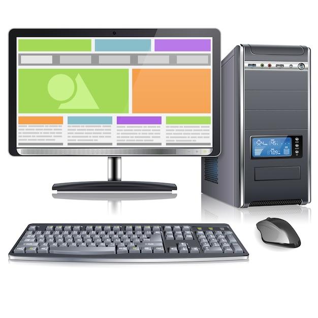 Computer Premium Vector