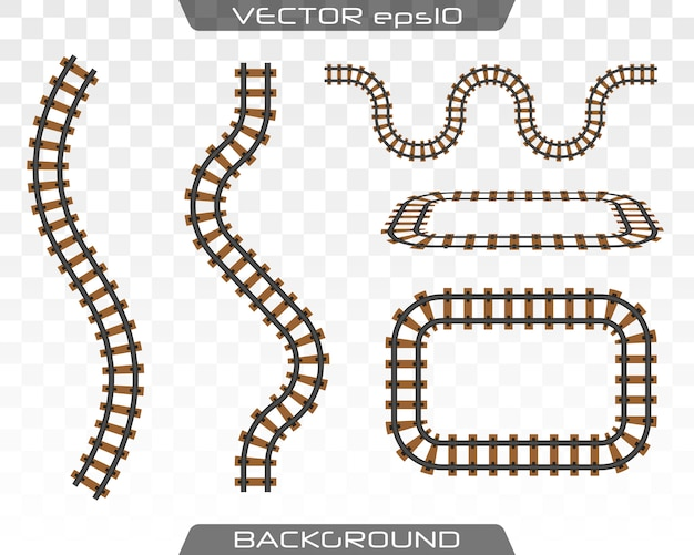 Concept van treinvervoer, metro, spoorweg. Premium Vector
