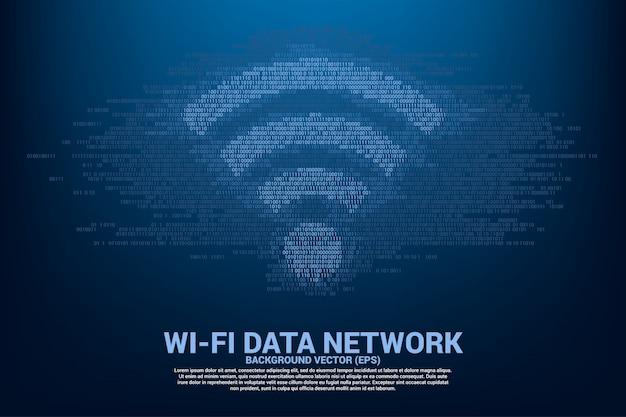 Concept voor gegevensoverdracht van mobiel en wi-fi gegevensnetwerk. Premium Vector