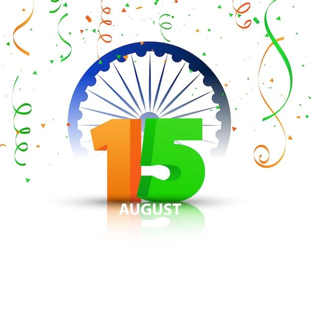 Conceptontwerp independence day india graphics. groet viering Premium Vector