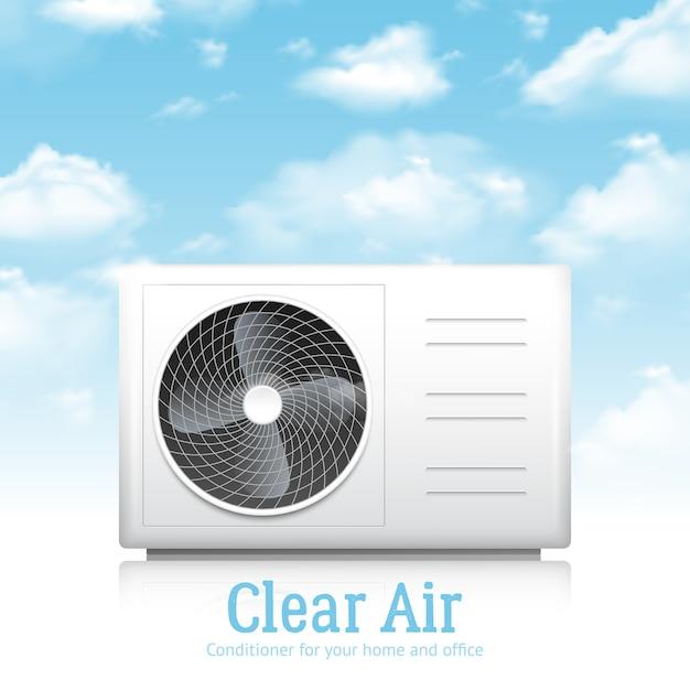 Conditioner voor thuis en op kantoor illustratie Gratis Vector