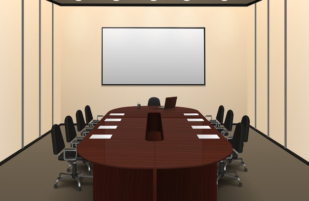conferentie kamer interieur illustratie gratis vector