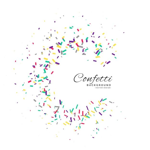 Confetti frame vector viering achtergrond Gratis Vector