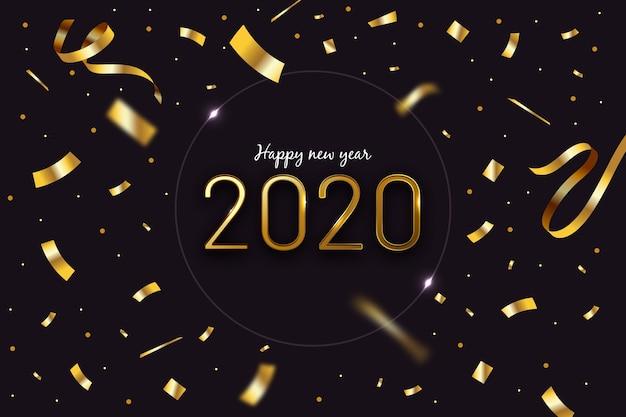 Confetti nieuwjaar achtergrond Gratis Vector