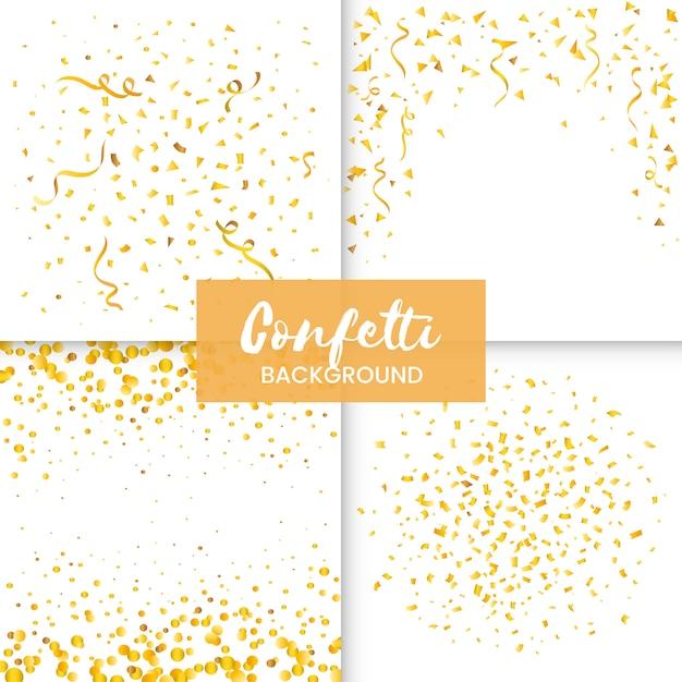 Confetti Gratis Vector