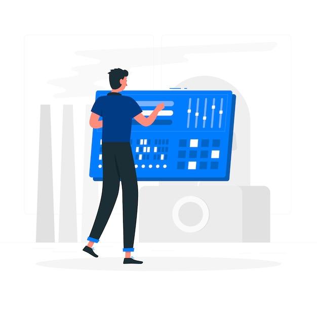 Configuratiescherm concept illustratie Gratis Vector