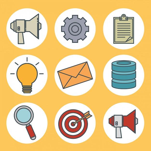 Connectiviteit 5g technologie iconen Gratis Vector