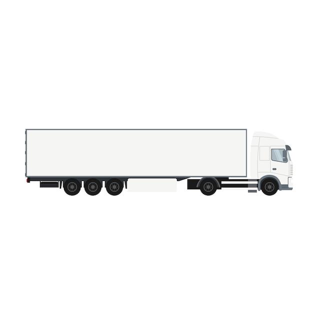 Container-aanhangwagen met koude ruimte Premium Vector