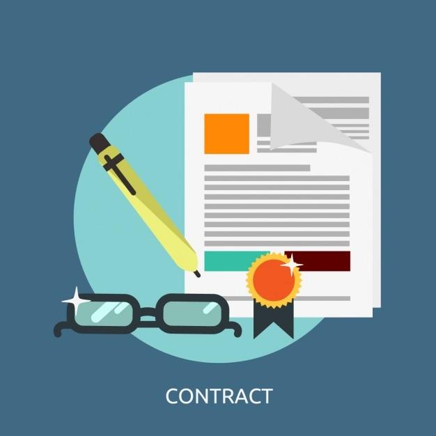 Contract achtergrond ontwerp Gratis Vector