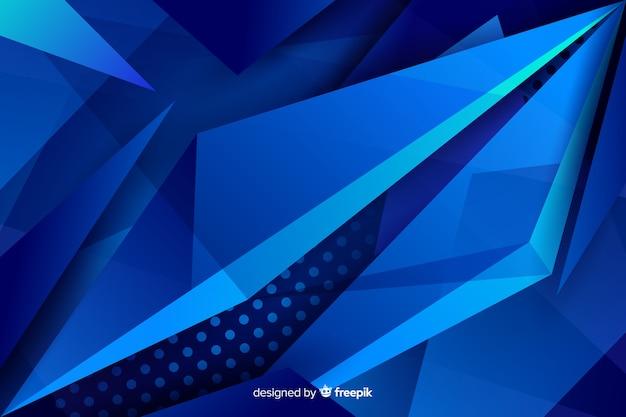 Contrasterende blauwe vormen met stippenachtergrond Gratis Vector