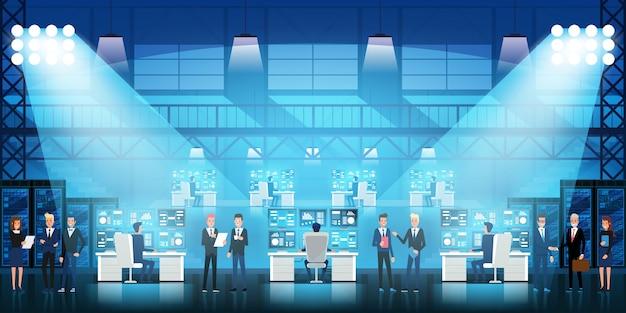 Controle centrum Premium Vector