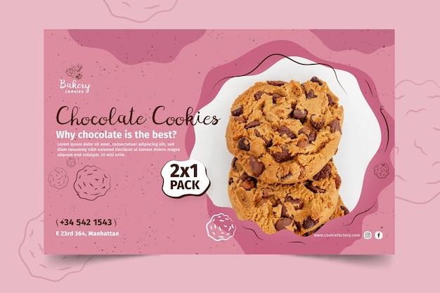 Cookies sjabloon voor spandoek met foto Gratis Vector