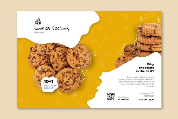 Cookies sjabloon voor spandoek Gratis Vector