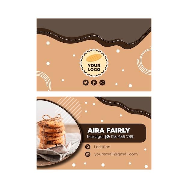 Cookies visitekaartje sjabloon Premium Vector