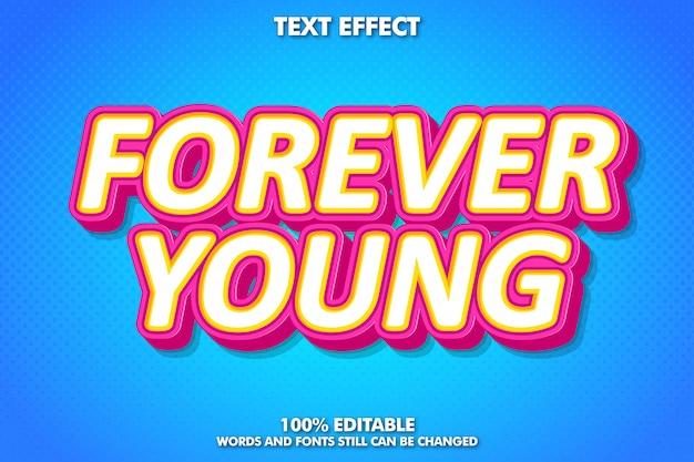 Cool fancy pop-art teksteffect voor retro poster en banner Premium Vector