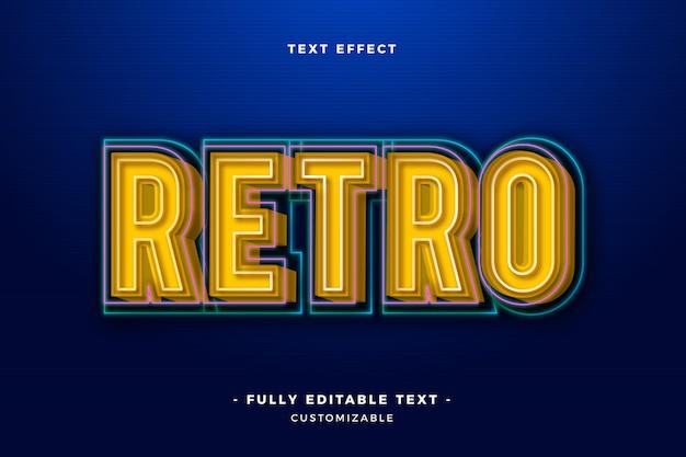 Cool retro teksteffect Gratis Vector