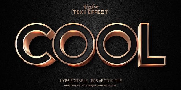 Coole tekst, luxe roségoud bewerkbaar teksteffect Premium Vector