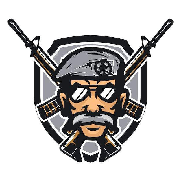 Cops vector mascotte pictogram illustratie Premium Vector