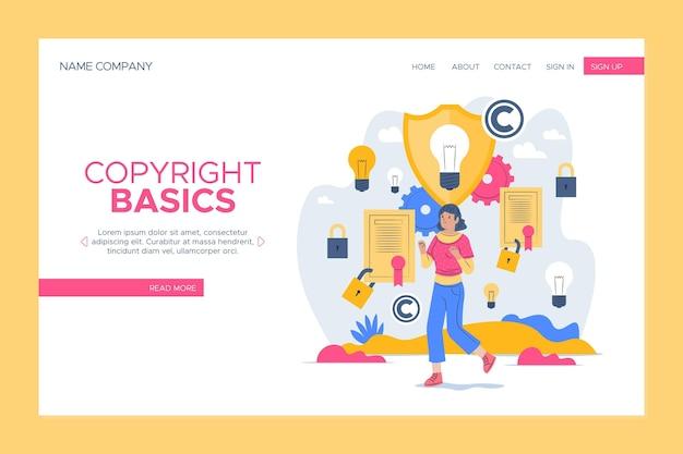 Copyright-bestemmingspagina-sjabloon Gratis Vector