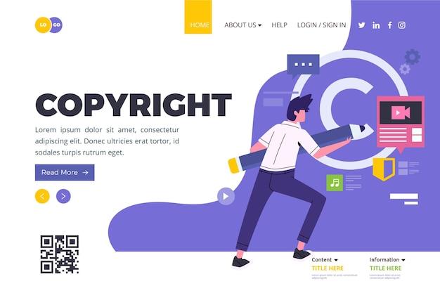 Copyright-bestemmingspagina Gratis Vector