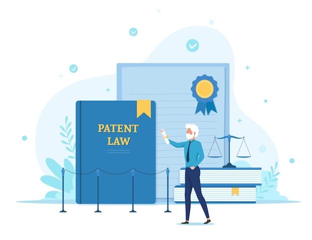Copyright patent lag illustratie Gratis Vector