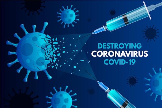 Coronavirus-achtergrond vernietigen Gratis Vector