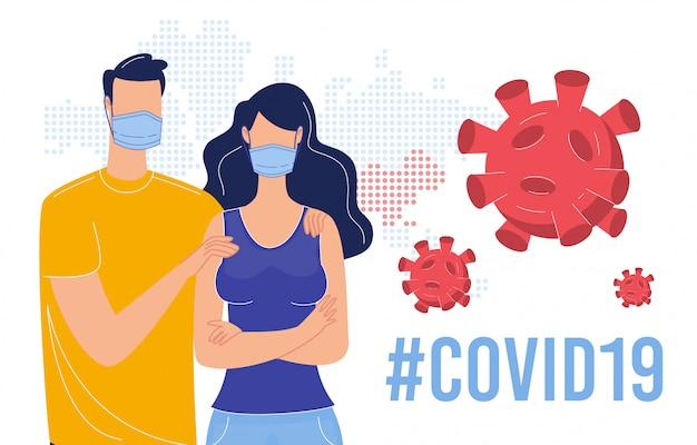 Coronavirus besmettingspreventie plat Premium Vector