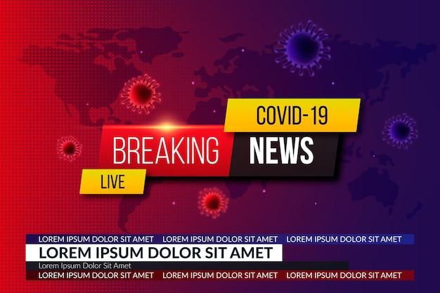 Coronavirus breaking news - achtergrond Premium Vector