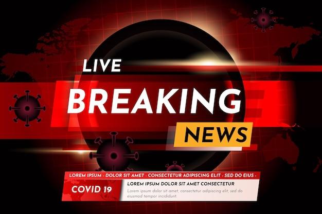 Coronavirus breaking news achtergrond Premium Vector