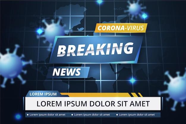 Coronavirus breaking news - achtergrond Gratis Vector