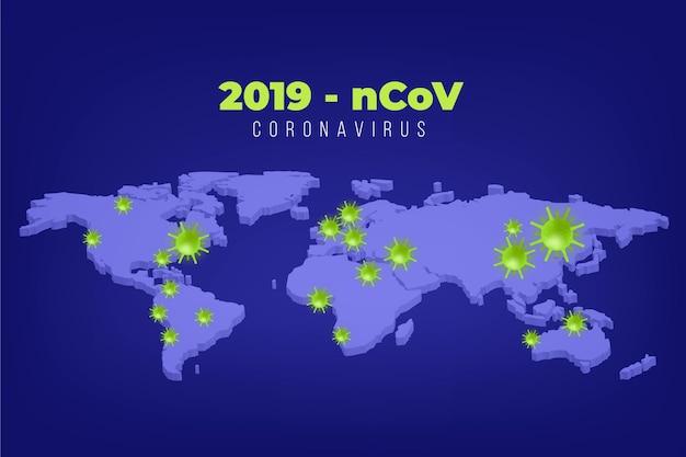 Coronavirus concept kaartontwerp Gratis Vector