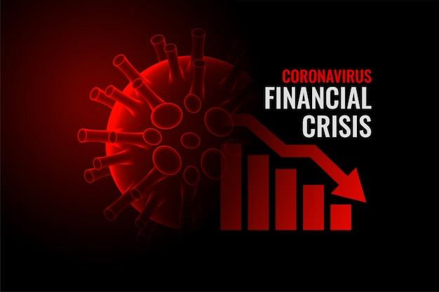 Coronavirus covid-19 financiële crisis economie ondergang achtergrond Gratis Vector