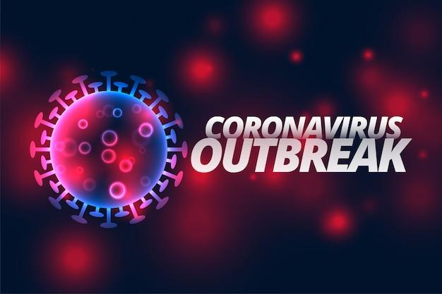 Coronavirus-infectie uitbraak pandemische ziekte Gratis Vector