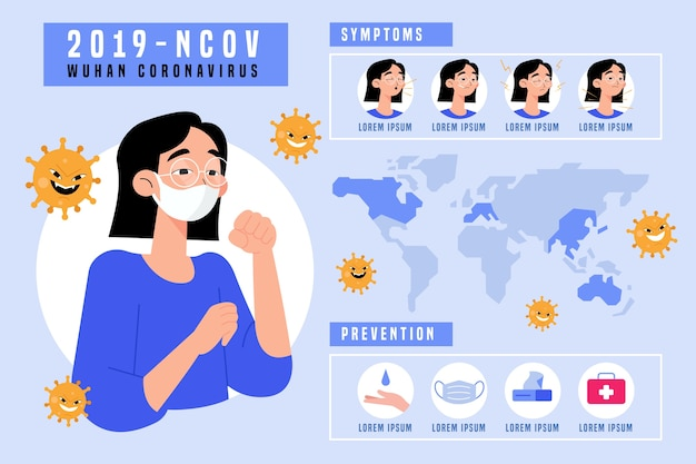 Coronavirus infographic concept Gratis Vector