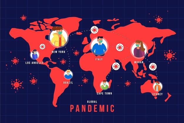 Coronavirus pandemisch concept Gratis Vector