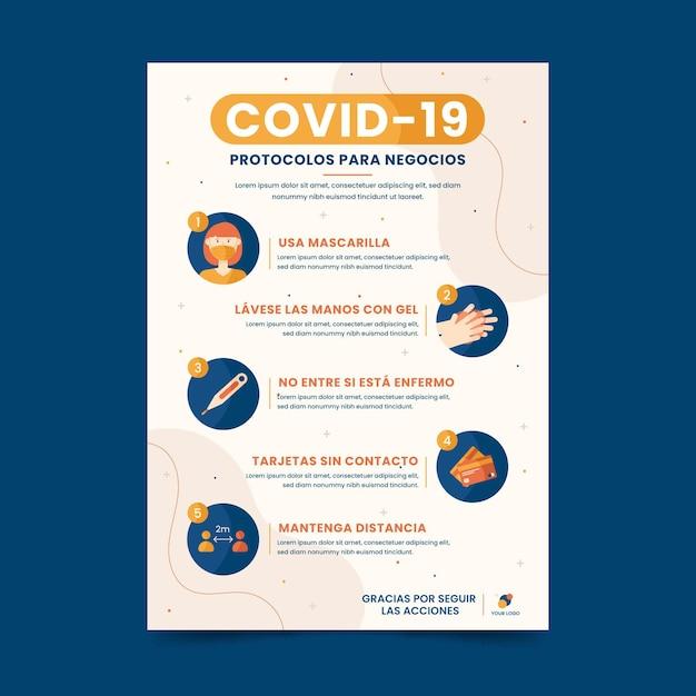 Coronavirus-protocollen voor zakelijke onderhandelingen Gratis Vector