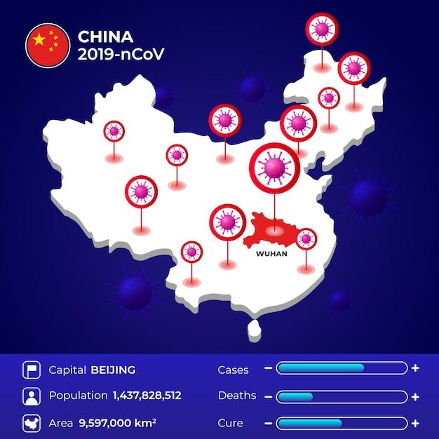 Coronavirus statistieken china Gratis Vector