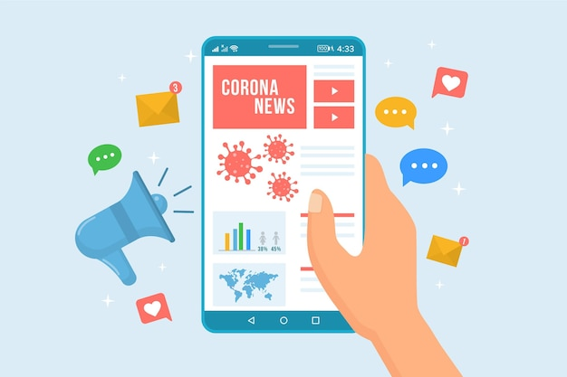 Coronavirus update concept Premium Vector