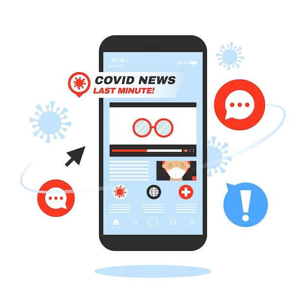 Coronavirus update concept Gratis Vector