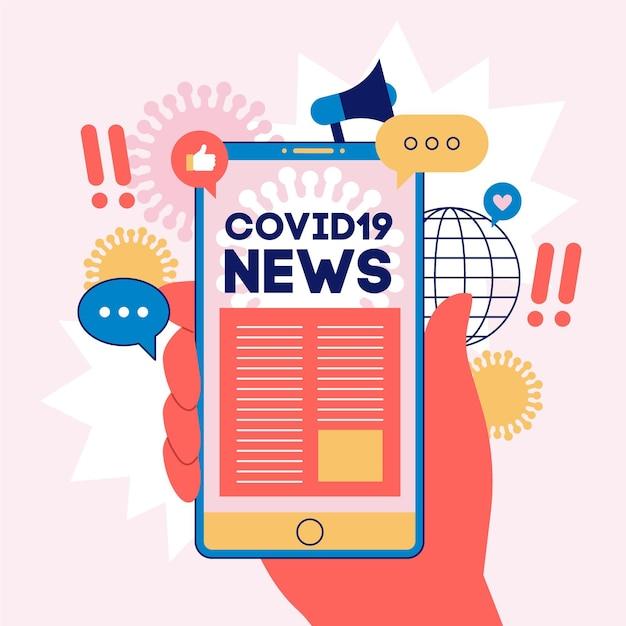Coronavirus-updateconcept geïllustreerd Premium Vector